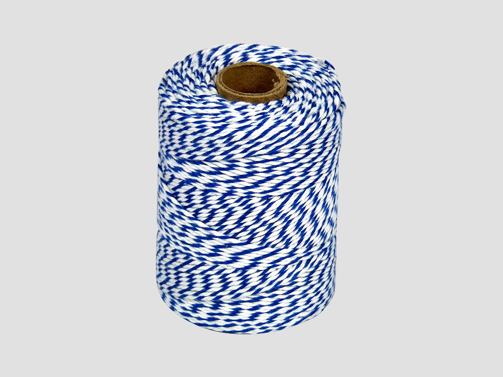 Cotton butcher twine Blue/White 250 gr