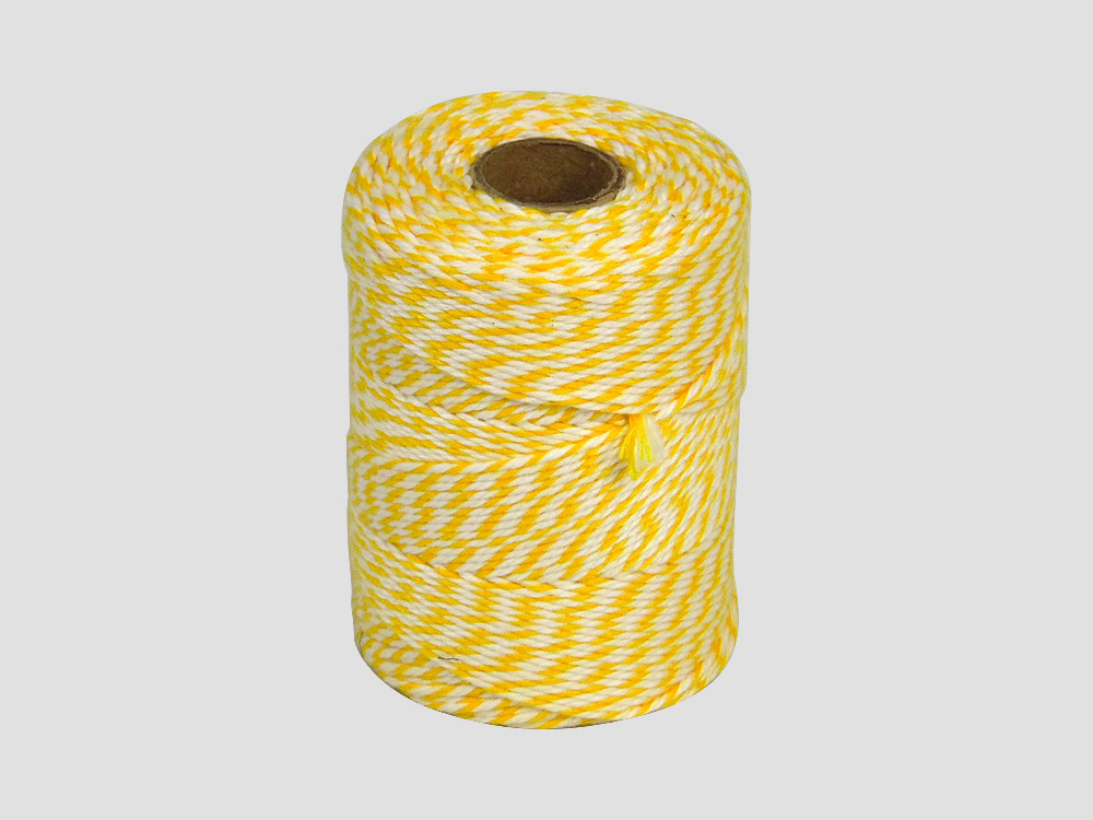 Cotton butcher twine Yellow/White 250 gr